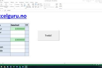 Trekning i Excel – mest for moro skyld