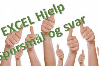 Excel hjelp – spørsmal og svar