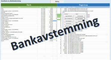 Bankavstemming i Excel