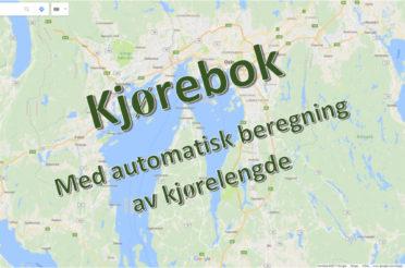 Kjørebok med automatisk beregning av kjørelengde