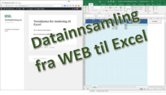 Datainnsamling med WordPress og Excel