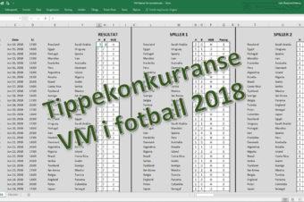 Tippekonkurranse VM fotball 2018