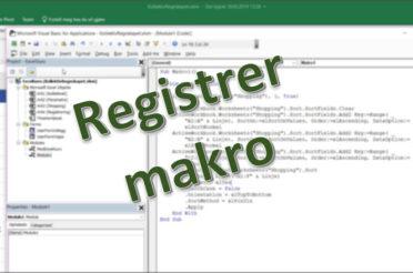 Makro registrering – hva er poenget?!