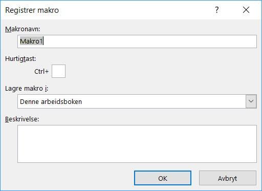 Makro registrering